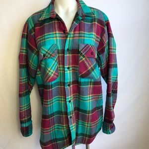 Fivebrother vintage flannel shirt bright colors
